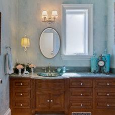 Traditional Bathroom by Carol Carter Interior Design