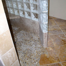 Traditional Bathroom by Checker TIle Limited