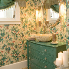 Tropical Bathroom by Cynthia Mason Interiors