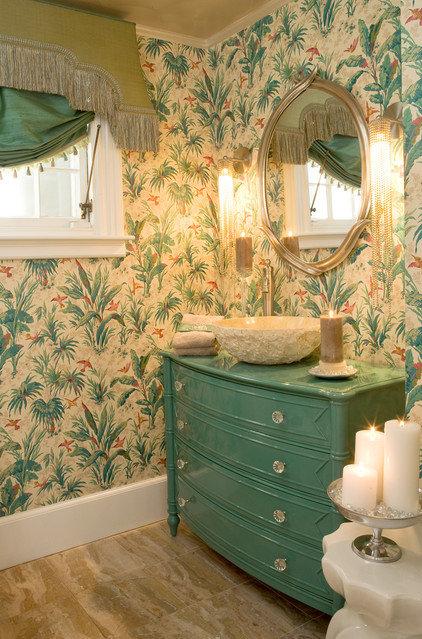 Tropical Bathroom by Cynthia Mason Interiors