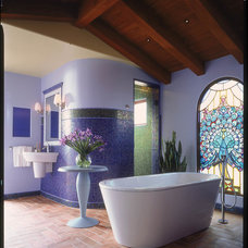 Eclectic Bathroom by gail owens photography