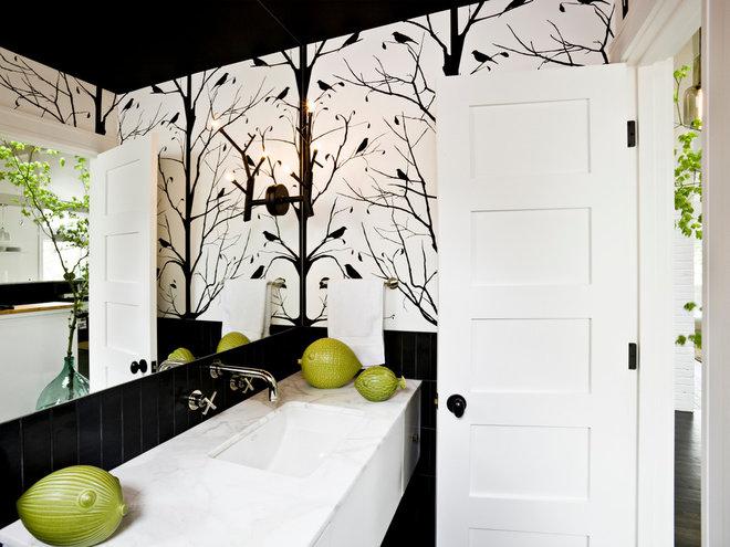 Midcentury Bathroom by Jessica Helgerson Interior Design