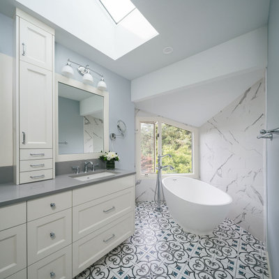 Transitional Bathroom by Hamish Murray Construction, Inc.