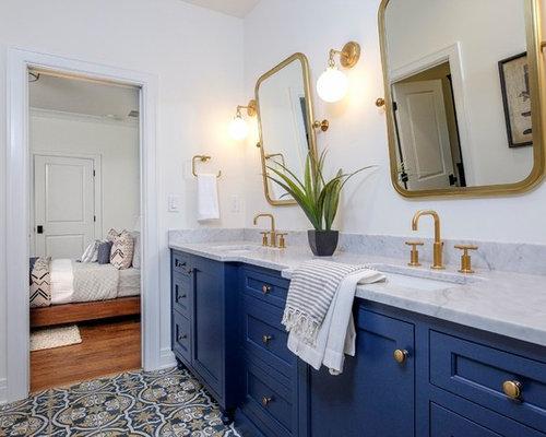 Best blue gold bathroom design ideas remodel pictures for Blue and gold bathroom ideas
