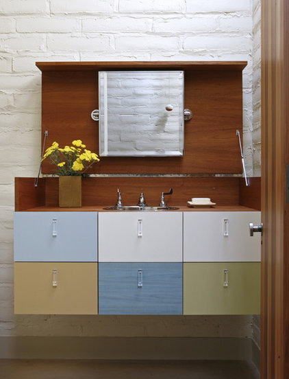 Midcentury Bathroom by The Office of Charles de Lisle