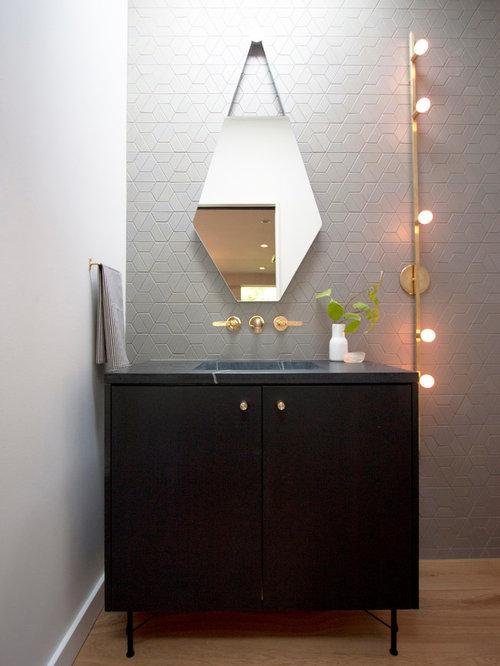 badezimmer mit speckstein waschbecken waschtisch und integriertem waschbecken ideen design. Black Bedroom Furniture Sets. Home Design Ideas
