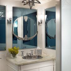 Beach Style Bathroom by Cindy Ray Interiors, Inc.