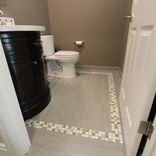 Transitional Bathroom by Susan Clouse Interior Solutions
