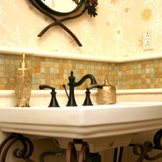 Traditional Bathroom by Bella Tile and Stone