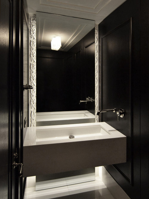 Bathroom Mirrors Chicago mirror suspended from ceiling | houzz