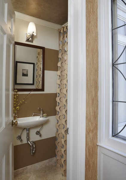 eclectic powder room by Dunlap Design Group, LLC