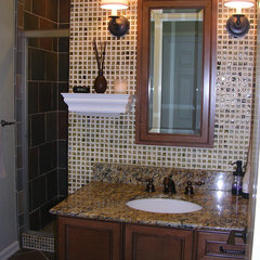 traditional powder room by Marina V. Phillips