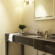 Contemporary Bathroom Powder Room