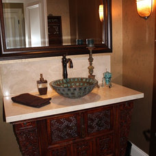 Asian Bathroom by Janine Brown Interiors