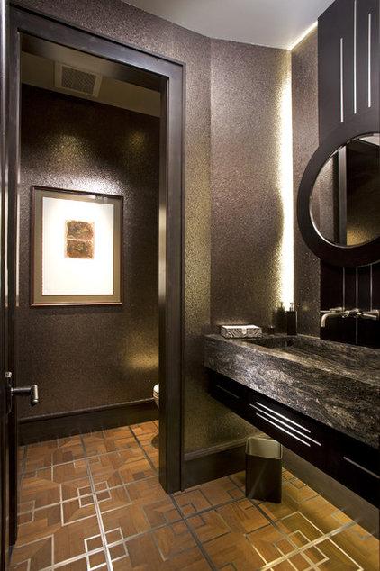 Rustic Bathroom by John Kraemer & Sons