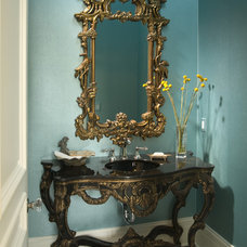eclectic bathroom by John Kraemer & Sons