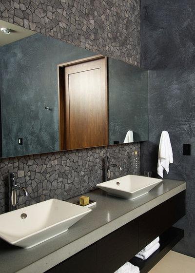 Farmhouse Bathroom by Rozewski & Co., Designers, LLC