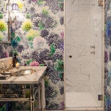 Transitional Bathroom by Schryver Design LLC