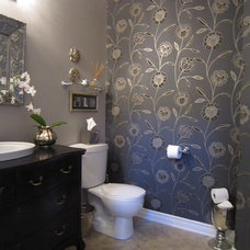 Eclectic Bathroom by Lisa Goulet Design