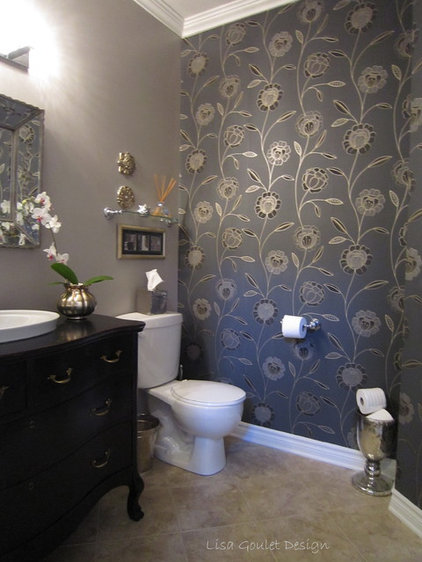 Traditional Bathroom by Lisa Goulet Design