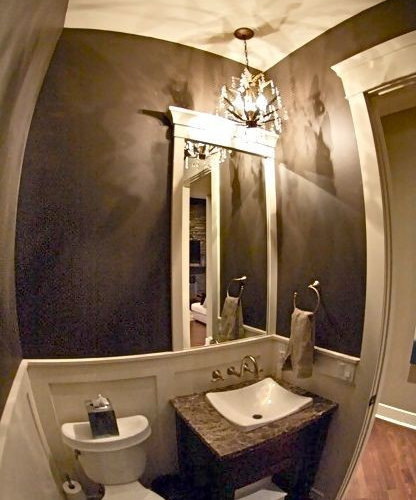 Half bath wainscoting ideas pictures remodel and decor - Half bath remodel ideas ...