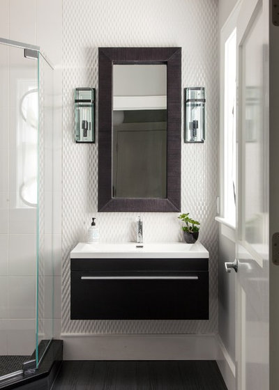 Contemporary Bathroom by Roomscapes Cabinetry and Design Center