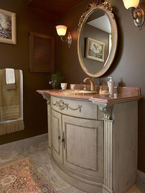 example of a midsized classic 34 marble floor bathroom design in boston
