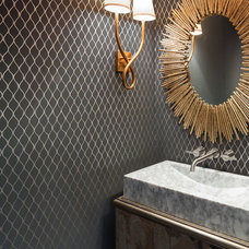 Eclectic Bathroom by Holly Bender Interiors