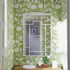 traditional bathroom Powder Rooms