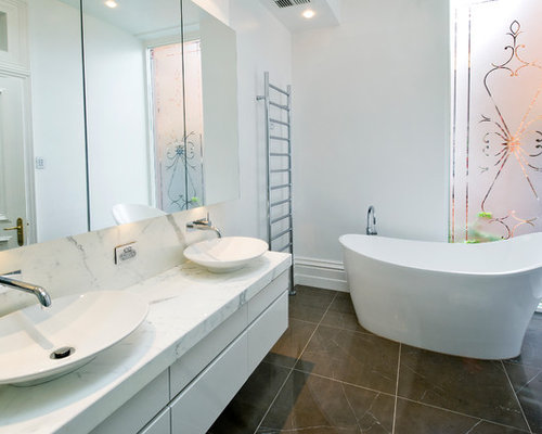 Large bathroom design ideas houzz for New bathtub ideas