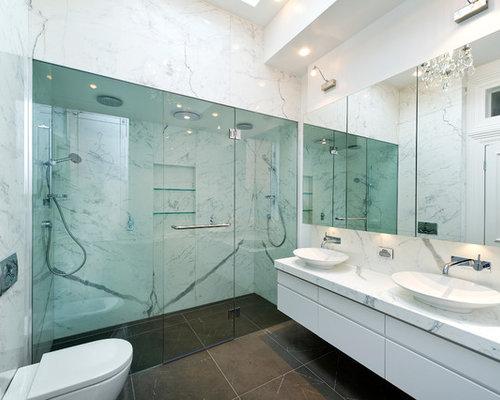 466 hide plumbing pipes behind pedestal sink Bathroom Design Photos