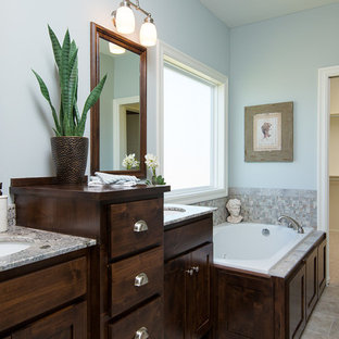 Example of a transitional bathroom design in Kansas City