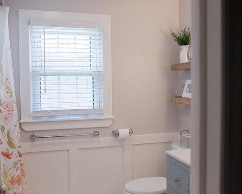 Bagno Beige E Blu : Stanza da bagno con pistrelle in bianco e nero kansas city foto