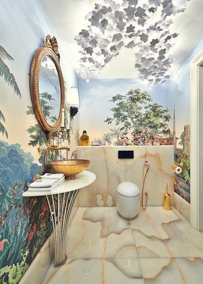 Eclectic Bathroom by Marco Joe Fazio, LBIPP