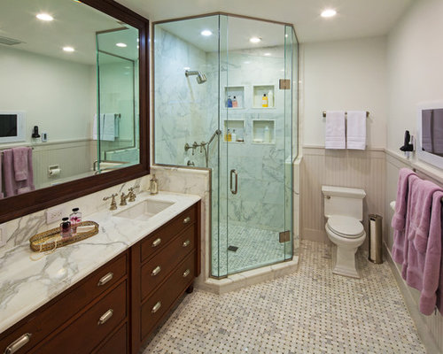 Corner Shower on small half bath layout