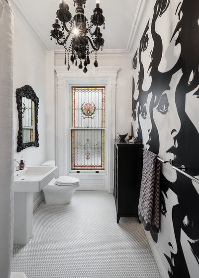 Eclectic Bathroom by Tamara Eaton Design