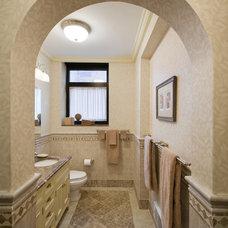 Traditional Bathroom by Laurence Tamaccio Design Destinations