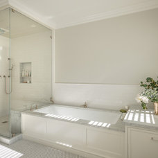 Transitional Bathroom by Upscale Construction