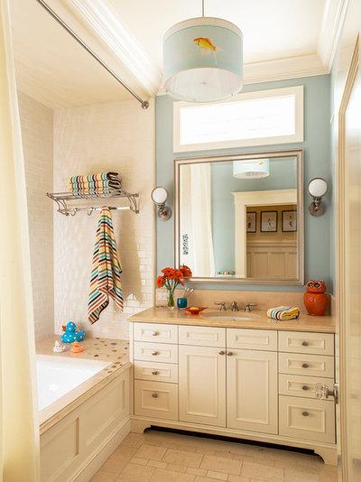 Transitional Bathroom by Adeeni Design Group