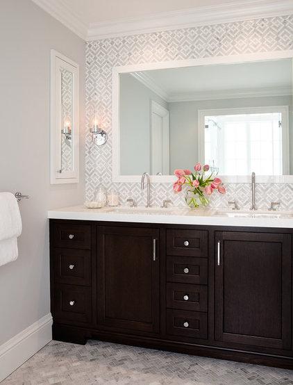 Transitional Bathroom by Rebecca Loewke Interiors