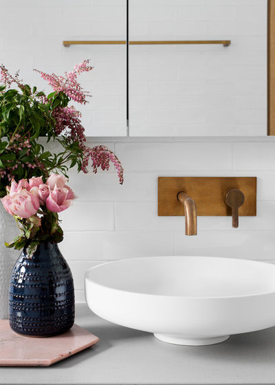 Contemporary Bathroom by GIA Bathroom   Kitchen Renovations. Stickybeak of the Week  Pastel Toned Minimalism for a Bathroom Renewal