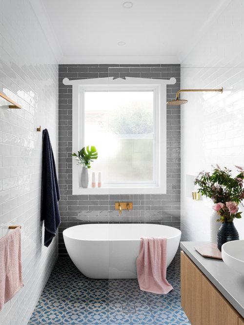 Famous Light Grey Tile Bathroom Floor Thin Bathroom Rentals Cost Round Custom Bath Vanities Chicago Mosaic Bathrooms Design Youthful Wash Basin Designs For Small Bathrooms In India PurpleBathroom Vainities Freestanding Bathtub Ideas, Pictures, Remodel And Decor