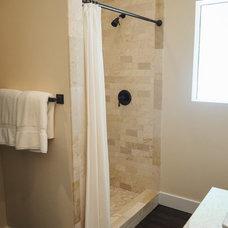 Transitional Bathroom by Beth Bray Design Associates