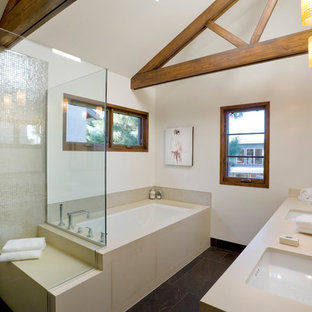 Example of a trendy mosaic tile bathroom design in Los Angeles