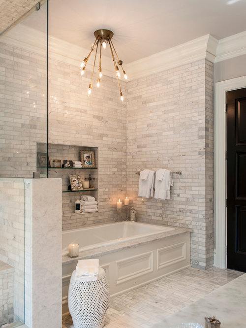 SaveEmail. 60K Bathroom with White Tile Design Ideas   Remodel Pictures   Houzz