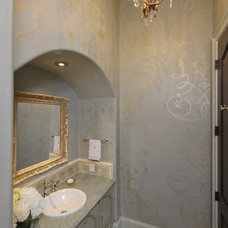 Traditional Bathroom by Amitha Verma Interior Design, LLC