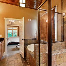 Craftsman Bathroom by Luxe Homes and Design