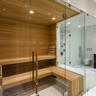 Sauna Bathroom With A Walk In Shower