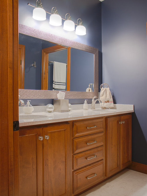 Inspiration For A Mid Sized Timeless Master Bathroom Remodel In Minneapolis  With Raised Panel
