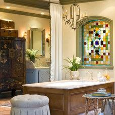 Mediterranean Bathroom by David Joseph Katona Interior Design